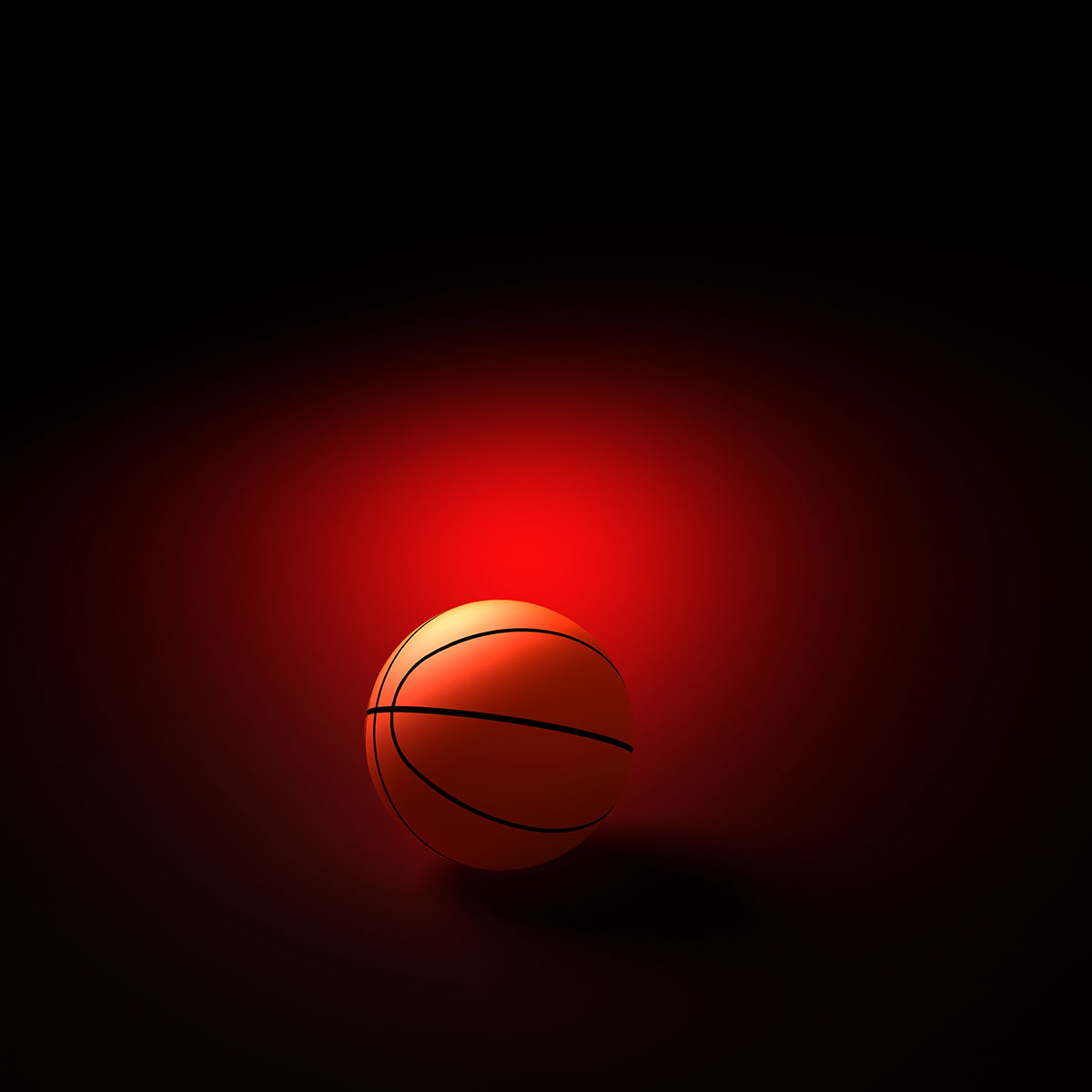 basketball on red