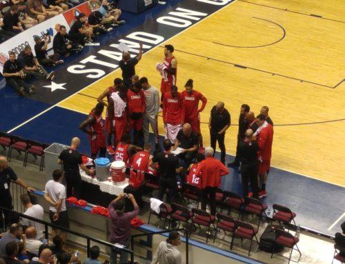 Basketball Canada versus China Men's Basketball