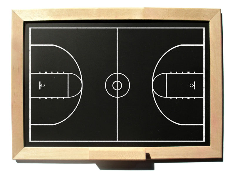 chalkboard basketball